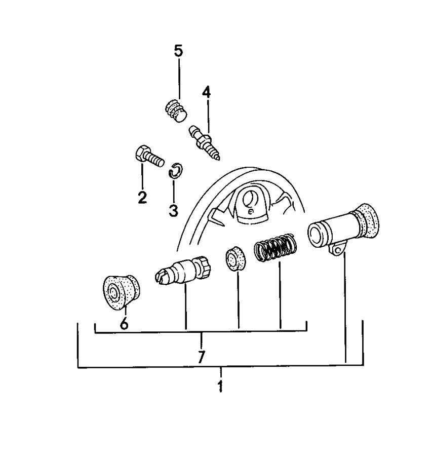 Porsche 924 Wheel brake cylinder spring repair kit piston