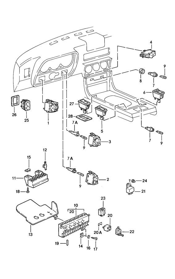 Porsche 944 Tip switch satin black rear lid release for