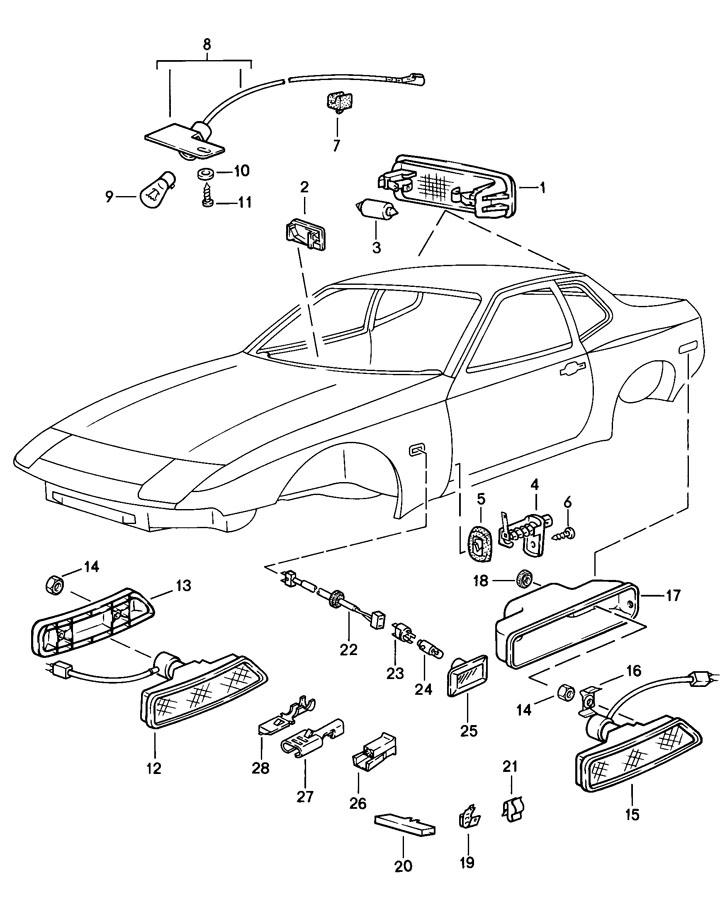 Porsche 944 Flat receptacle. Pushon, Modification