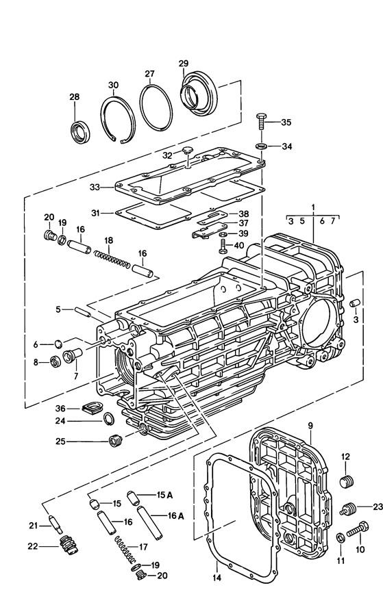 Porsche 928 Transaxle. Transmission. W/40% differential