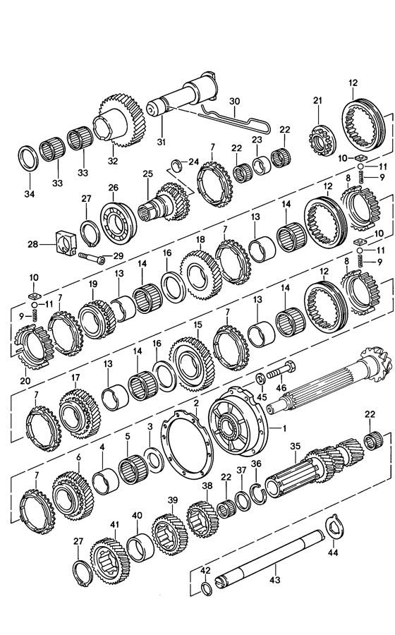 Porsche 928 synchroniser ring. SYNCHRONIZER RING
