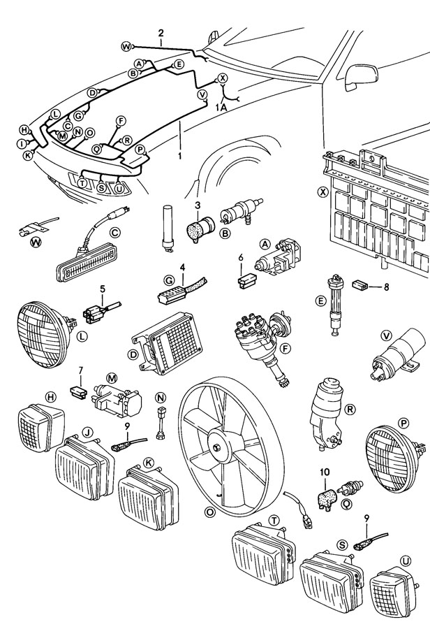 Porsche 928 Terminal sleeve housing generator for