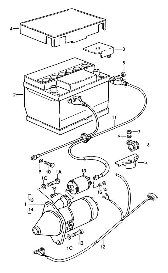 Porsche 944 Starter protection cap generator. ALTERNATOR