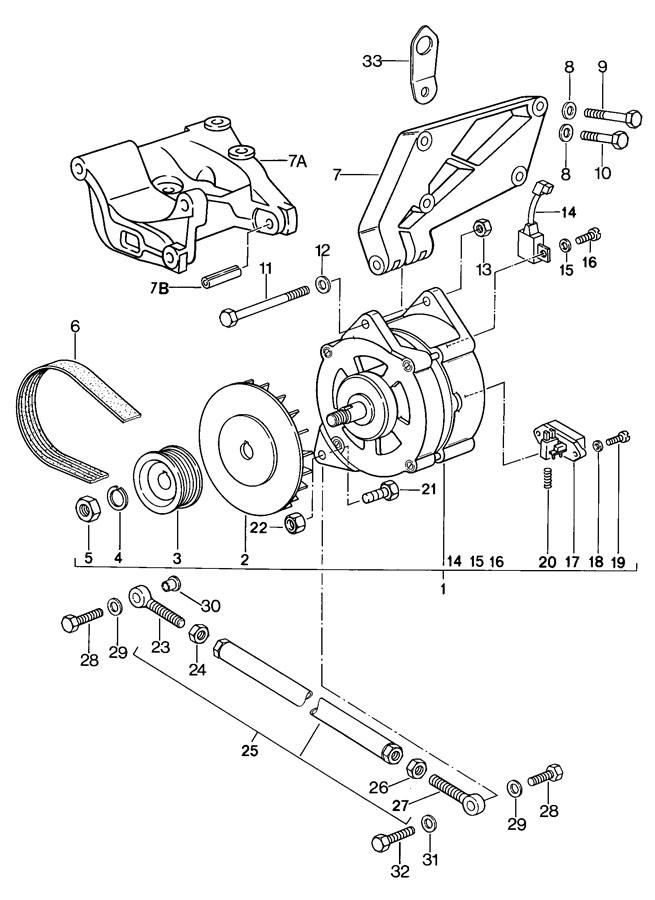 Porsche 924 Washer. Balance, Trailing, Rearaxle