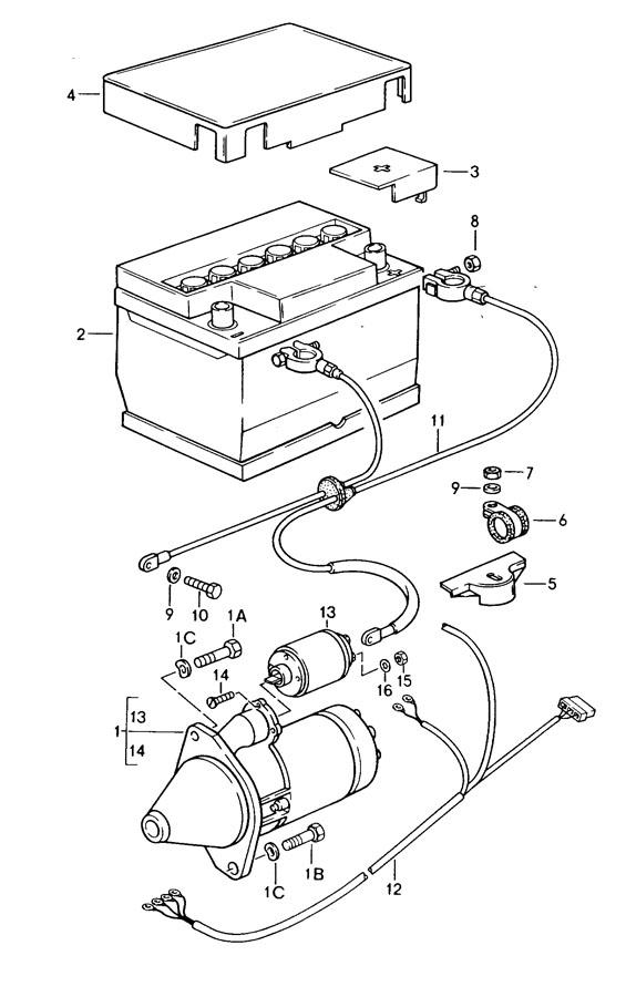 Porsche 924 Wiring harness starter generator. ALTERNATOR