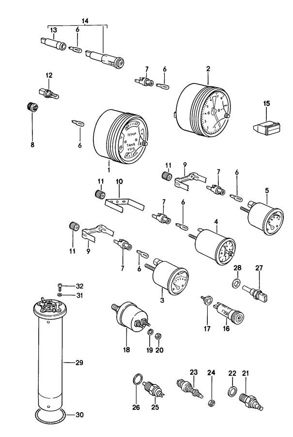 Porsche 924 Pan-head screw combination screw. CHEESE-HD
