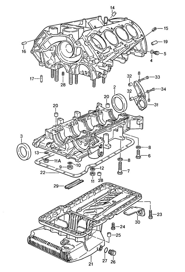 1988 Porsche 928 Shaft sealing ring radial sealing ring