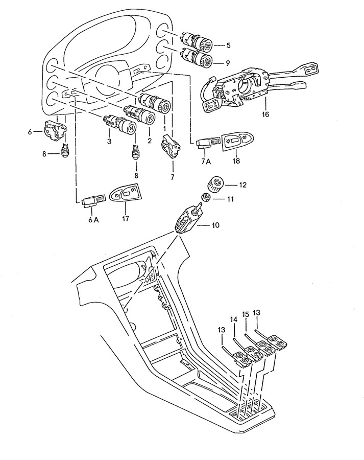 Porsche 928 With steering column switch lettering