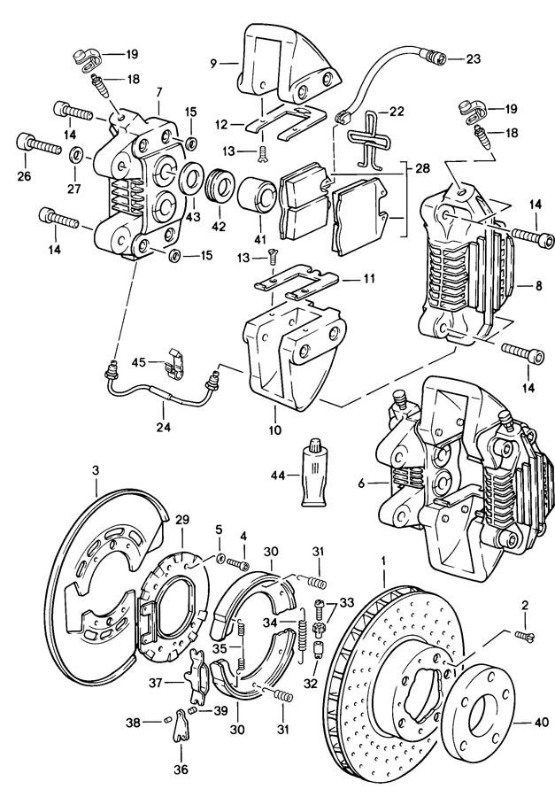 Porsche 911 Warning contact brake pad wear indicator