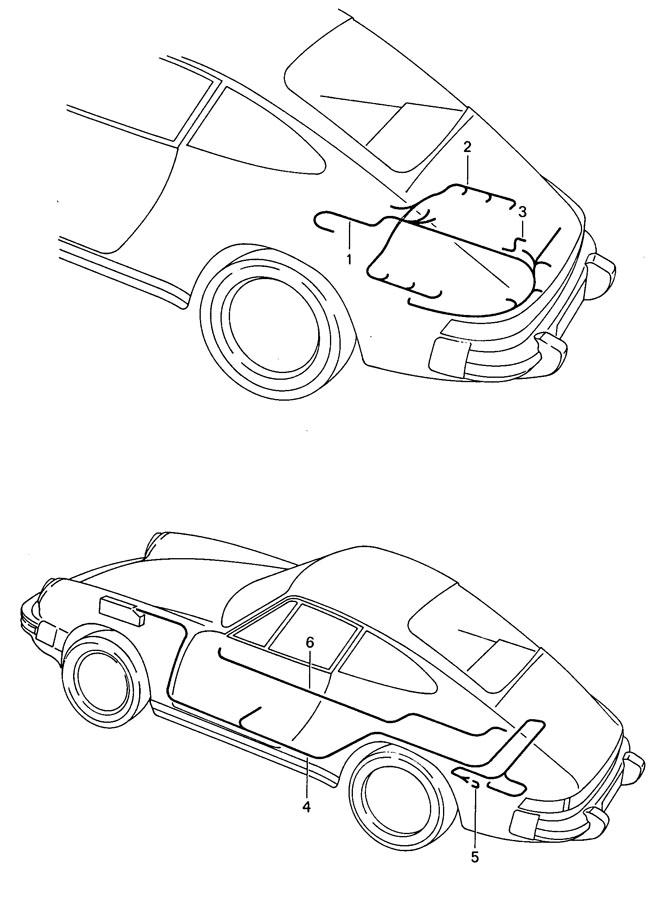 Porsche 911 Oxygen (O2) Sensor Harness. Dme, Ctrl