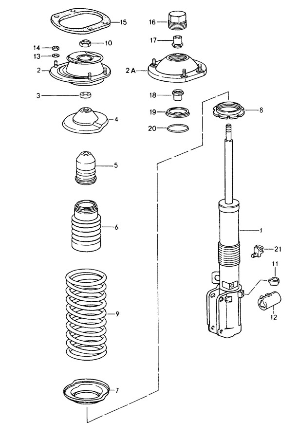 Porsche 911 Cable Holder. Connector. Shock absorber