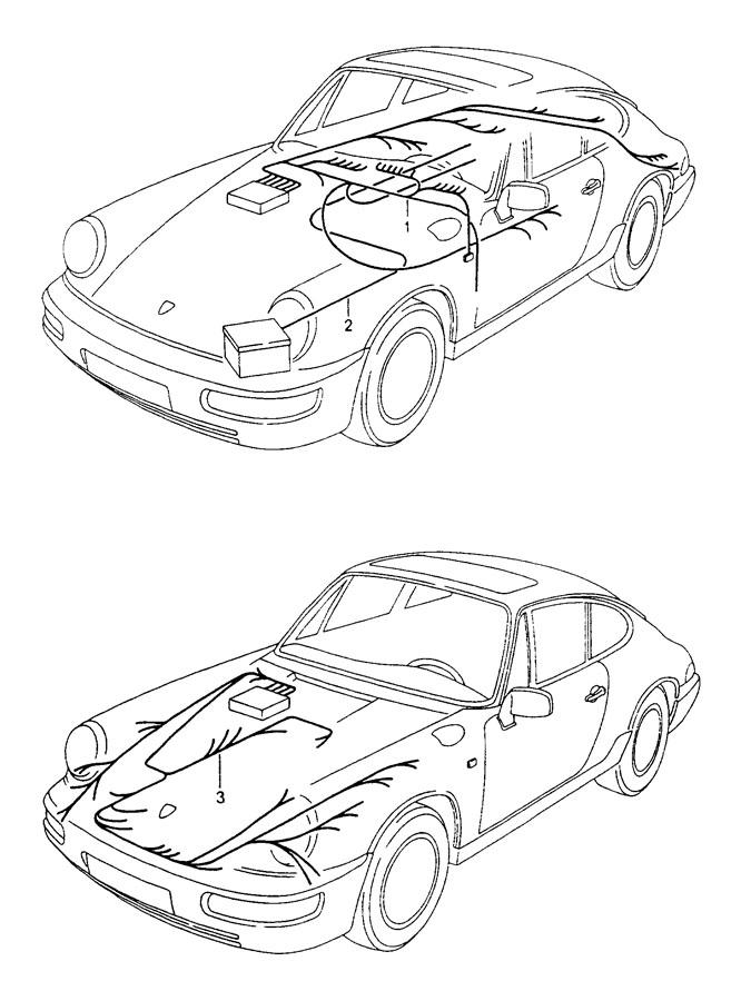 Porsche 911 Wiring harness boot floor plate. TURBOLOOK