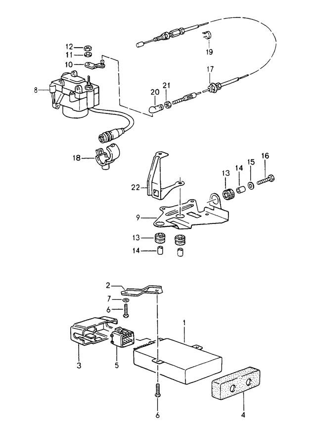 Porsche 911 Support for fixing clip connector housing