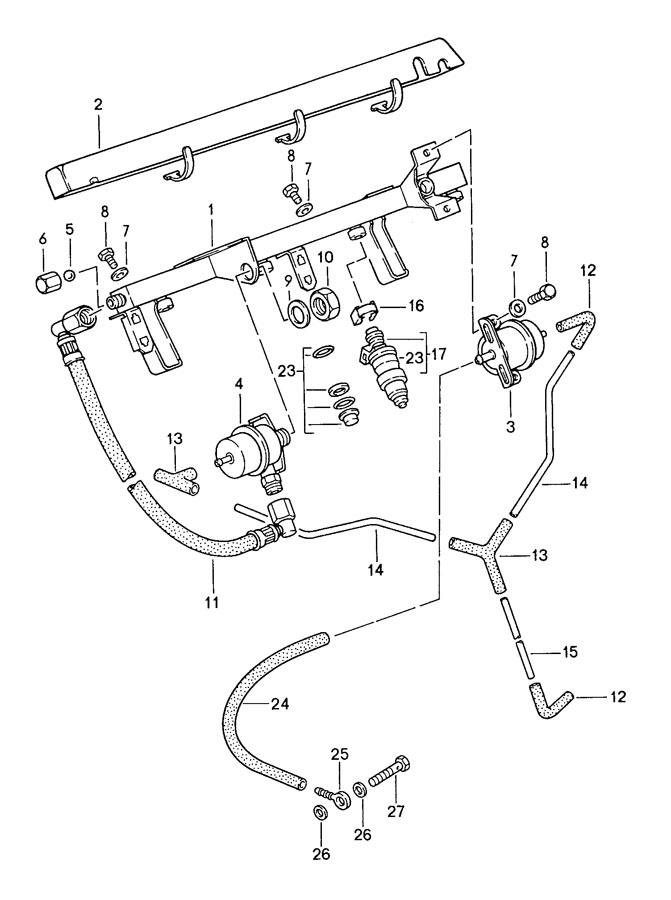 Porsche 944 Vacuum Line Adapter. 3.4, 3.8 LITER, AUTO