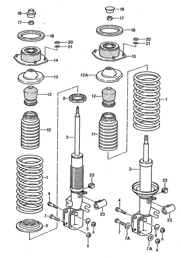 Porsche 944 Vibration damper use also: shock absorber