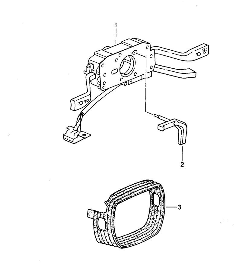 1994 Porsche 968 Steering column switch headlight washer