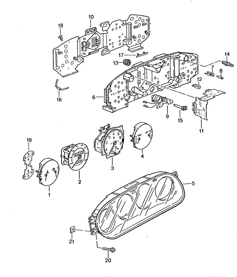 Porsche 968 Speedometer head. 968; auto trans