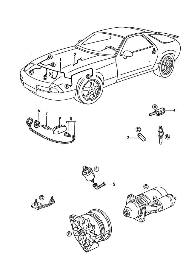 Porsche 928 Single pole single line simple plug with guide