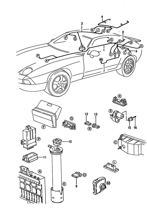 Porsche 928 Safety fuse rear lid release. REAR LID