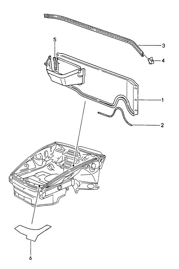 Porsche 911 Edge protection beading. PROTECTIVE EDGING