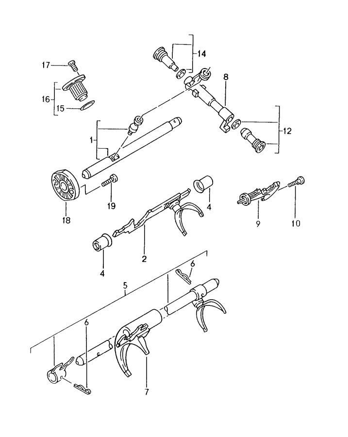 Porsche Boxster manual transmission shift rods shift forks