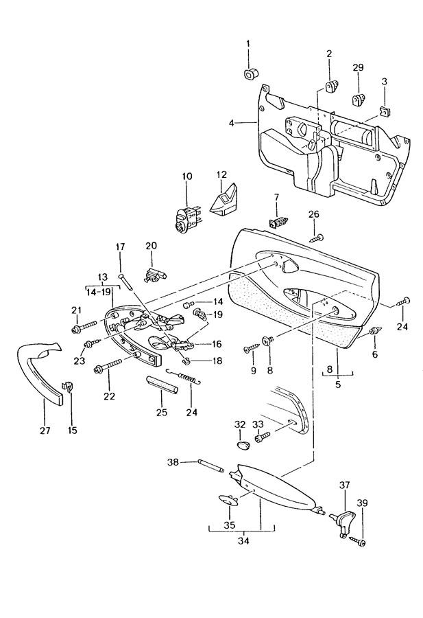 Porsche door trim panel accessories