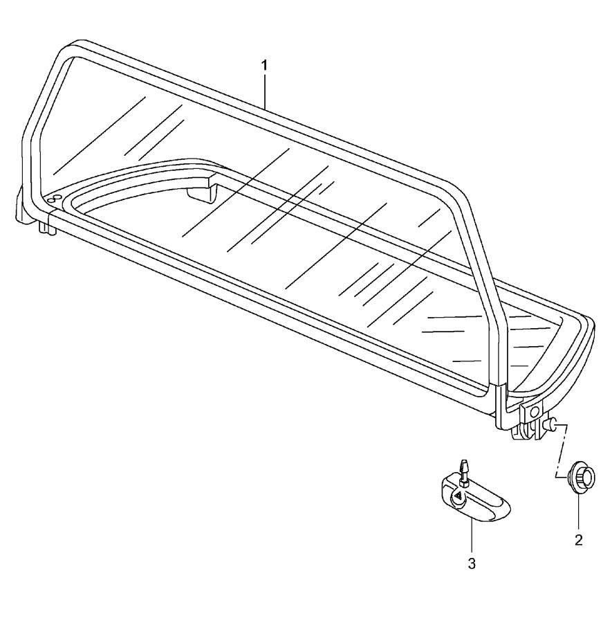 Porsche 911 Air deflector mount. Air deflector repair kit
