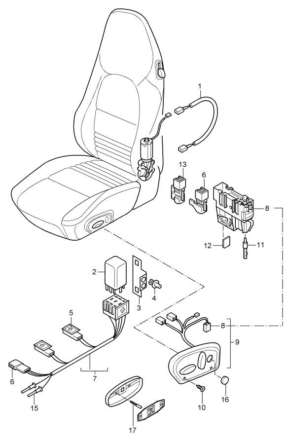 Porsche 911 Contact pin connector connection point