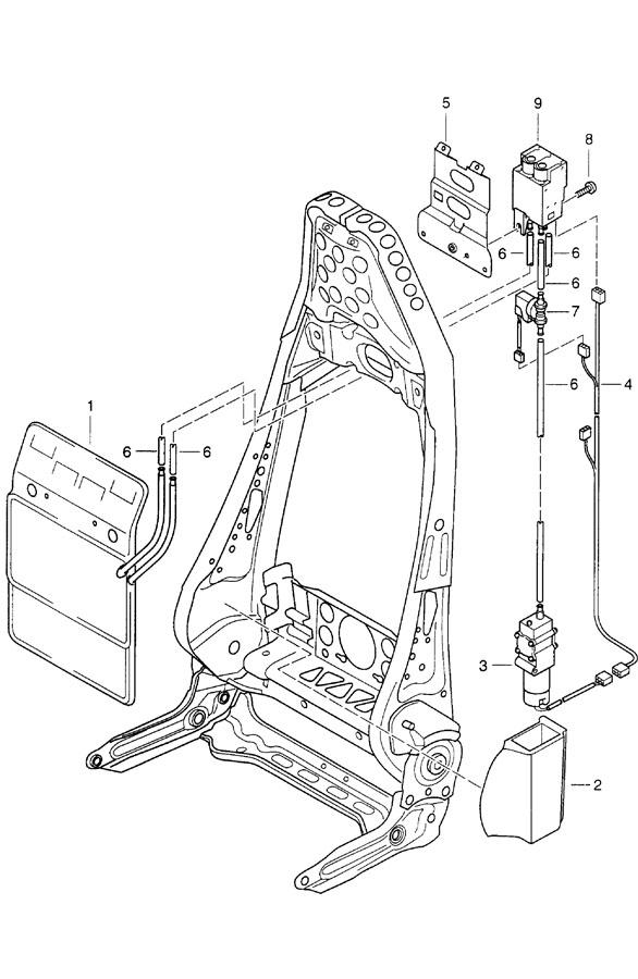 Porsche 911 Wiring harness seating position control lumbar