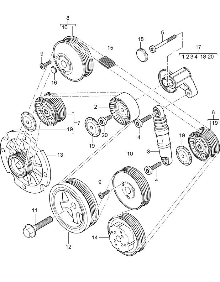 Porsche Cayenne Accessory Drive Belt Tensioner