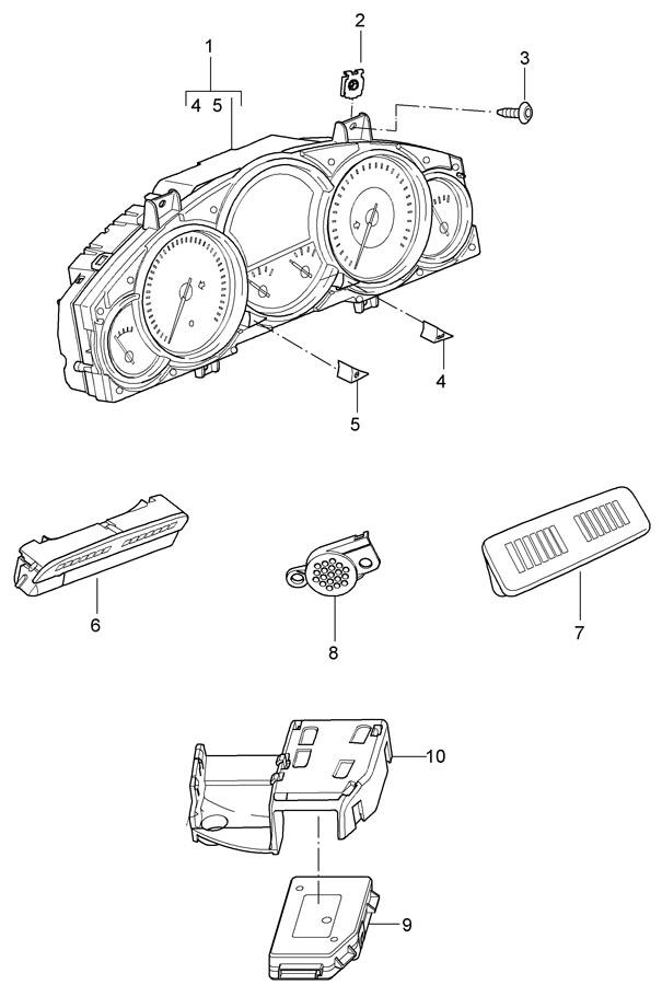 Porsche Cayenne Knob clock actuator. THROTTLE CONTROL ELE