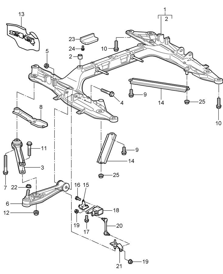 Porsche 911 Upper stabiliser self-locking nut see