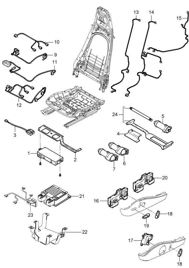 Porsche 911 Switch sports seat seat adjuster manually