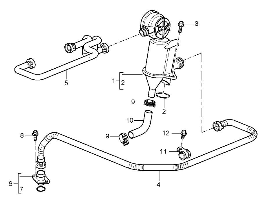 Porsche Boxster Engine Crankcase Vent Valve. Engine