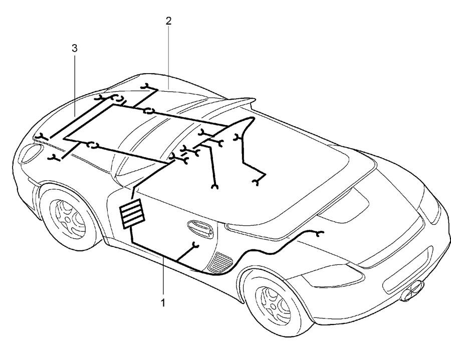 Porsche Boxster Wiring harness passenger compartment