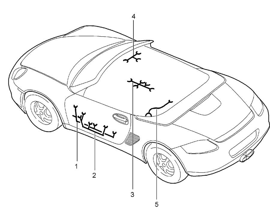 Porsche Boxster Wiring harness passenger's door door panel