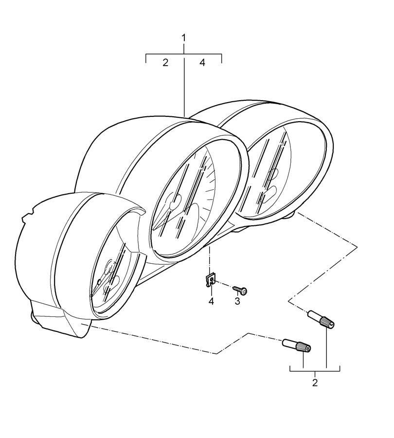 Porsche Cayman Sand Beige instrument cluster. COMB