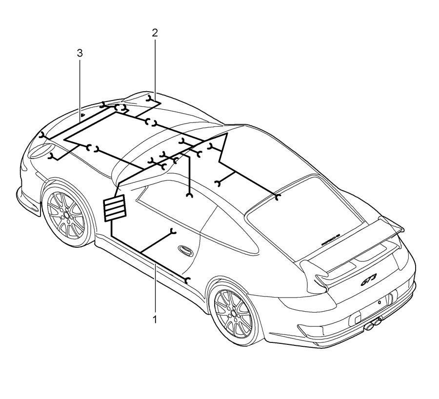 Porsche 911 Wiring harness shock absorber repair kit