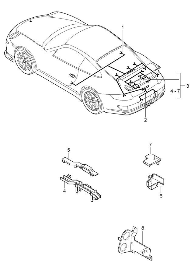Porsche 911 For fixing clip connection point. SEPARATOR