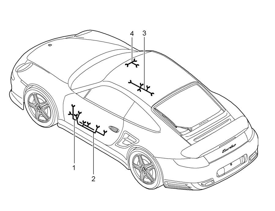 Porsche 911 Wiring harness driver's door assembly frame