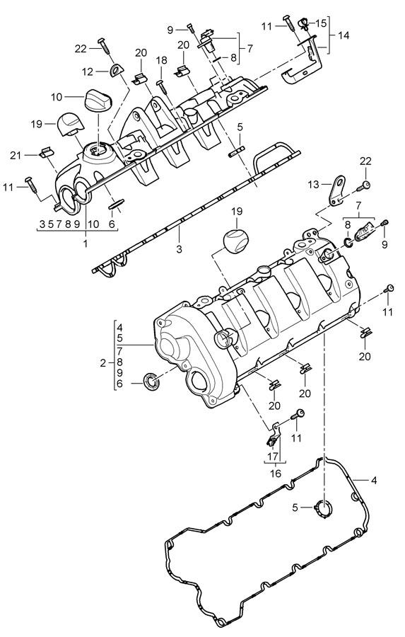 Porsche Cayenne Gasket camshaft actuator. THROTTLE CONTROL