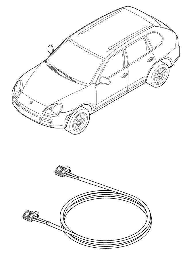 Porsche Cayenne Electric Connector HSNG. Waveguide