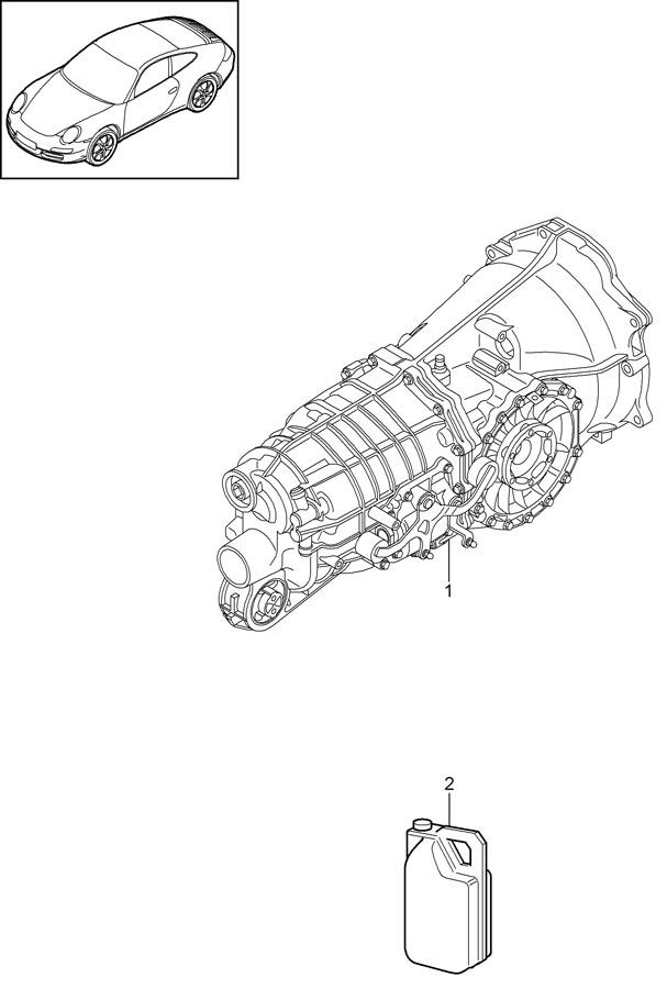 1987 Porsche 911 Turbo/GT2 Transmission oil container