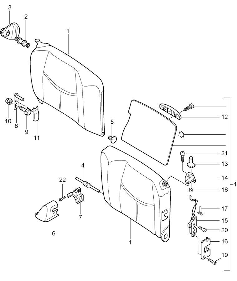 Porsche 911 Brown/natural back seat backrest