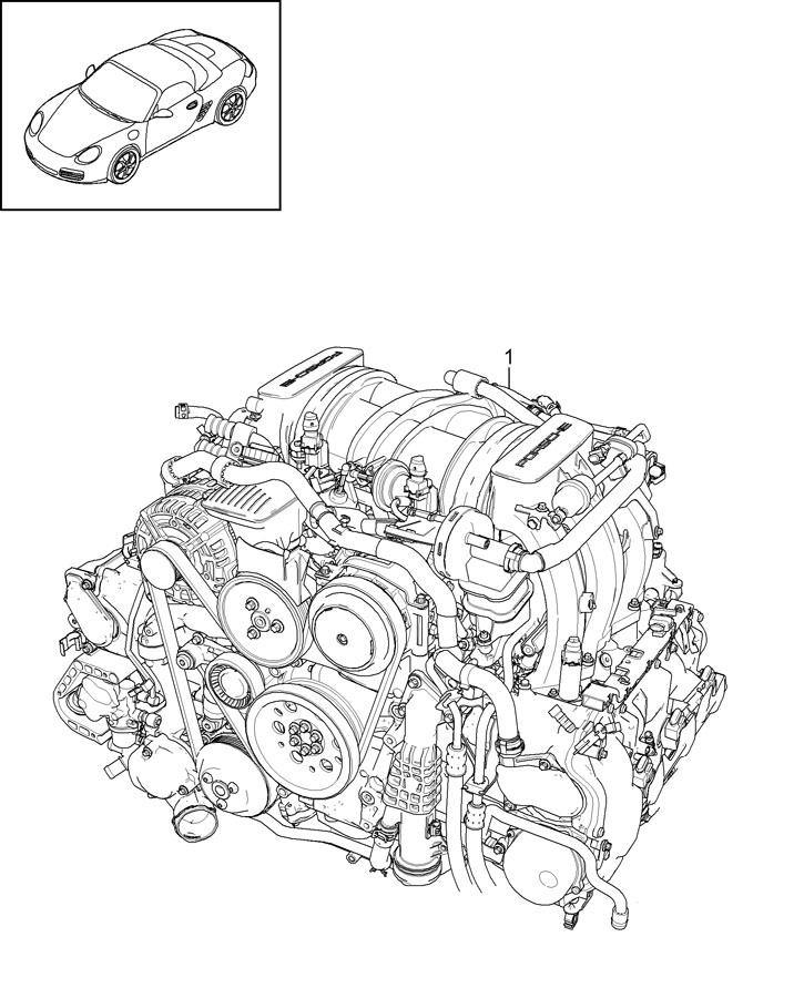 2012 Porsche Boxster Spare engine 2.9l. Boxster; auto