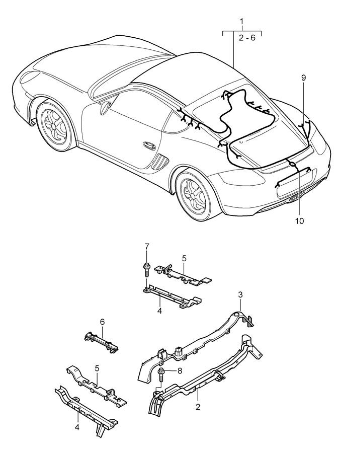 Porsche Cayman Wiring harness repair kit brake pad wear