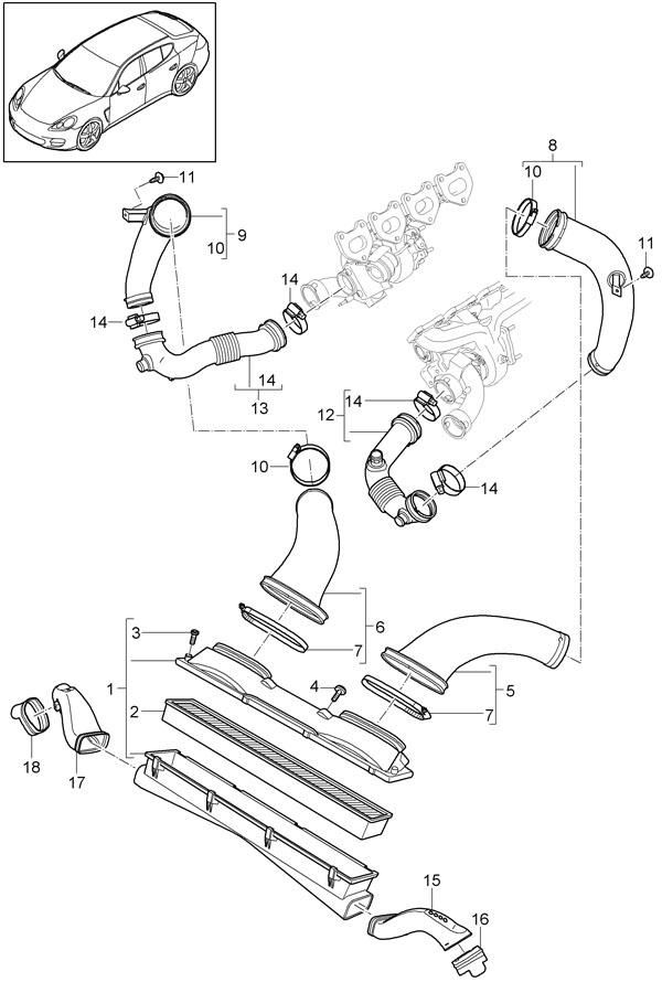 2010 Porsche Panamera Intake manifold. WTURBOCHARGER