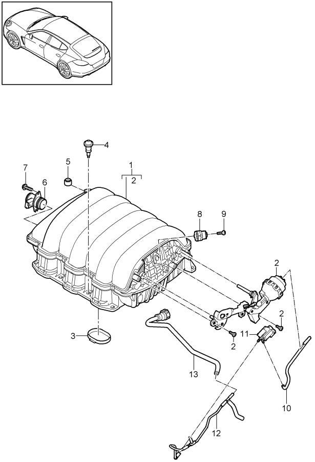 Porsche intake distributor