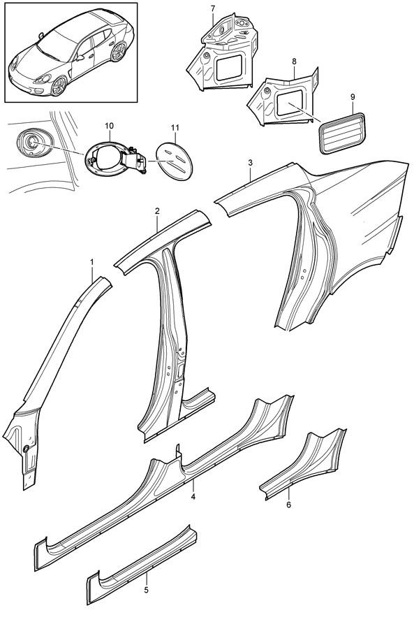 2015 Porsche Support mount Lane Change Assistant clinch