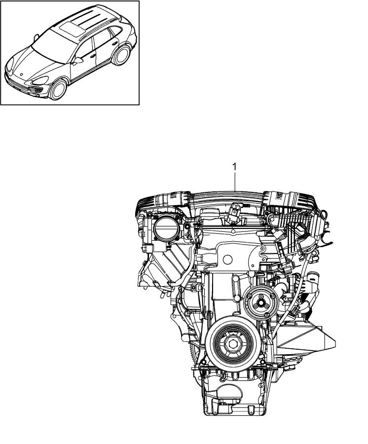 Porsche Cayenne Together with tiptronic replacement engine